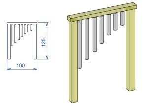 D3 Didaktična tabla zveneče cevi