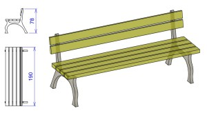 K7 Klop s kovinskimi nogami NINA