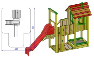 S1 Igralni stolp s hiško ROBI