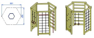 PL6 sestavljeno plezalo ŽIGA