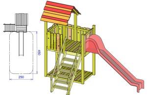 S10 igralni stolp s toboganom GAL