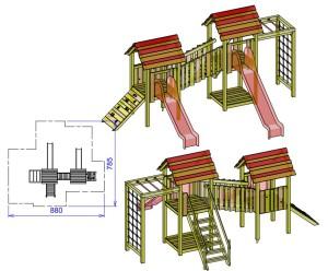 S12 dvojni stolp s plezalom TIM