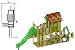S3 Igralni stolp s hiško ROBI in labirintom